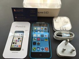 Brand new unlocked sim free iPhone 5C sealed box with full new accessories in stock