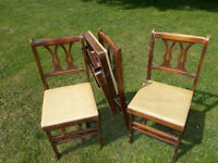 """""""older"""" folding wooden chairs"""