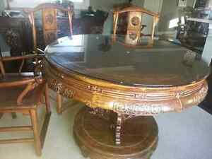 Exotic dining table 4 chairs/Alter Table imported from China Peterborough Peterborough Area image 2