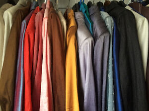 27 TAILORMADE SUITS WITH PANTS, DRESS,SKIRT  INCL 15 RAW SILK