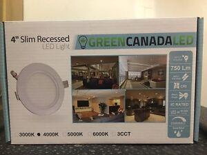 "4"" LED pot lights 6W 3000/4000/5000K  Kitchener / Waterloo Kitchener Area image 1"