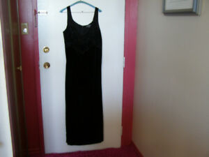 Black Velvet Long Gown