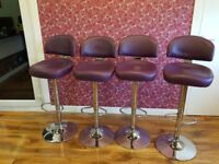 Purple Breakfast / kitchen bar stool adjustable up and down