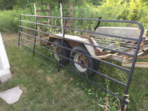 14ft Farm Gate w/ Hinges and Hardware