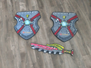 Foam Lego Chima shields and sword