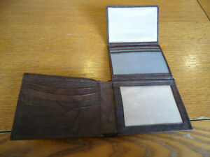 Genuine Italian Leather Harley Davidson Wallet (Dark Brown) West Island Greater Montréal image 3