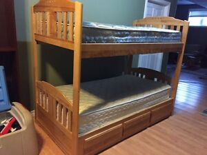 Twin size wooden bunk bed  London Ontario image 7