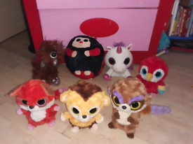 """BUNDLE OF 7 LARGE SOFT TOYS FROM ,,TY"""""""