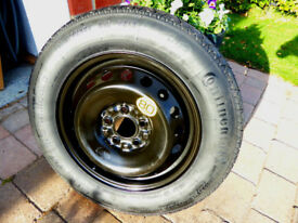 "2010-2017 Nissan Qashqai 16"" SpaceSaver Spare Wheel & Continental Tyre - BOTH UNUSED"
