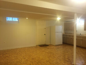 Two bedrooms basement apartment with 2 parking spot Available N