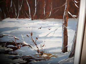 "Listed,Heinz V. Pundleider ""Creek In Merivale"" Original Oil 1978 Stratford Kitchener Area image 9"