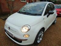 2011 61 FIAT 500 1.2 LOUNGE 3D 69 BHP MANUAL PETROL IN WHITE