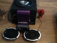 Car stereo and speakers