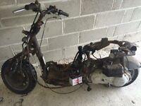 Aprilia habana 125cc. Spares/repairs or buggy project