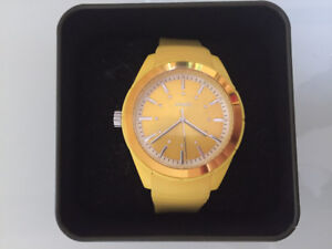 Yellow Esprit Watch with rubber strap