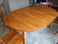 Dining Table Set, Including 6 Chairs