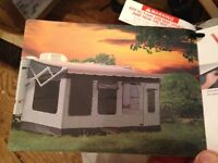 RV Awning outdoor screen room