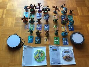 Skylanders 2 wii games with platforms & 19 figurines with cards West Island Greater Montréal image 2