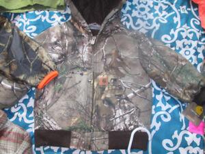 Carharrt camo realtree coat and camo columbia jacket