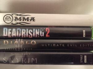 Lot de jeu Xbox 360,diablo3,deadrising2,mma,skyrim
