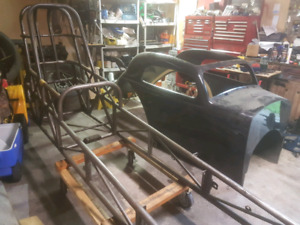 Fiat altered dragster project certified chassis