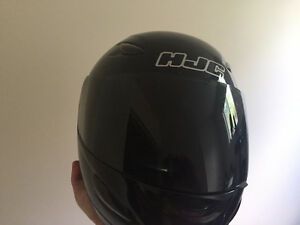 HJC Black Full Face With Smoked Visor - Large or XL