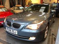BMW 5 SERIES 525D SE TOURING Blue Manual Diesel, 2008 (08)