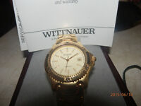 GOLD plated  SWISS  Wittnauer with Date window Model # 2596