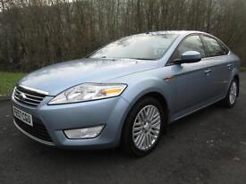 07/57 FORD MONDEO 1.8 TDCI GHIA 5DR HATCH IN MET BLUE WITH ONLY 70,000 MILES