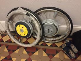 """Power Assist Wheelchair Wheels ALBER E MOTION M15 22"""""""