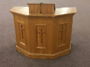 Brown Wood Church Podium