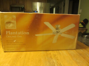 Plantation ceiling fan