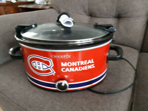MONTREAL CANADIANS LOGO SLOW COOKER