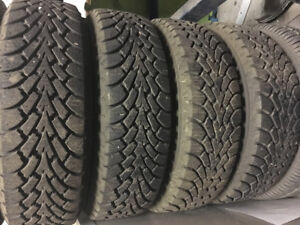 For sale 4 studded winter tires 175/70/14