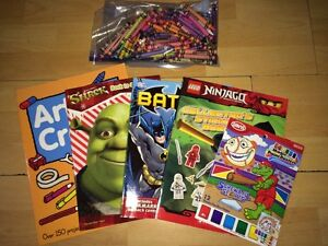 Colouring Books & Crayons