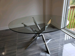 Round glass table structube great price