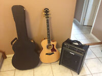 Taylor Electric/Acoustic 614CE Guitar with Amp