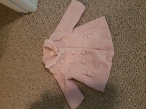 6-12 month Pink Peacoat