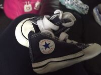 Baby converse pram shoes.