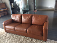 Couch and love seat - leather