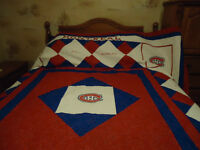 Hand Made Montreal Canadian Quilt