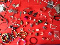 Several rings and bracelets