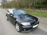 2005 '55' BMW 118i SE 5 DOOR HATCH IN JET BLACK 117,000 MILES