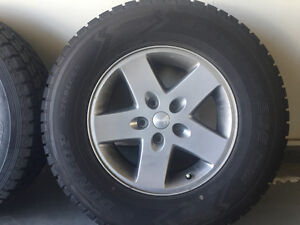 5 Jeep Rims and winter tires