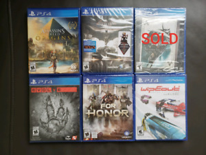 PS4 Games •••New Sealed•••