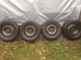 Winter tyres and steel wheels 205 55 16 Audi Volkswagen opony zimowe