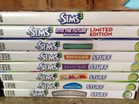 Sims 3 main game plus all expansions seen in photos