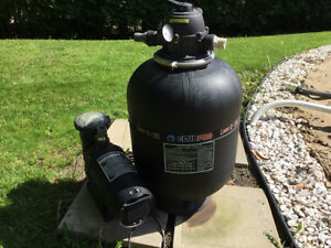 Pump and filter for above group pool