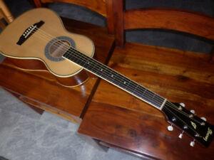 Une belle Parlor Ibanez  (travelling guitare)