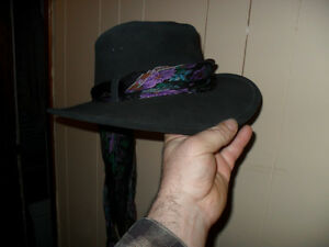 small leather cowgirl/fadora type hat Peterborough Peterborough Area image 4